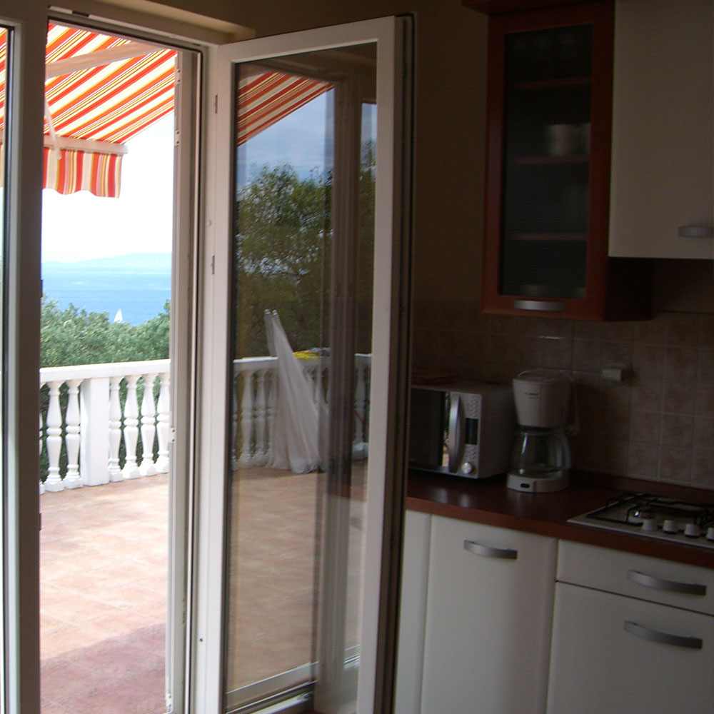 kuhinja s pogledom na more
